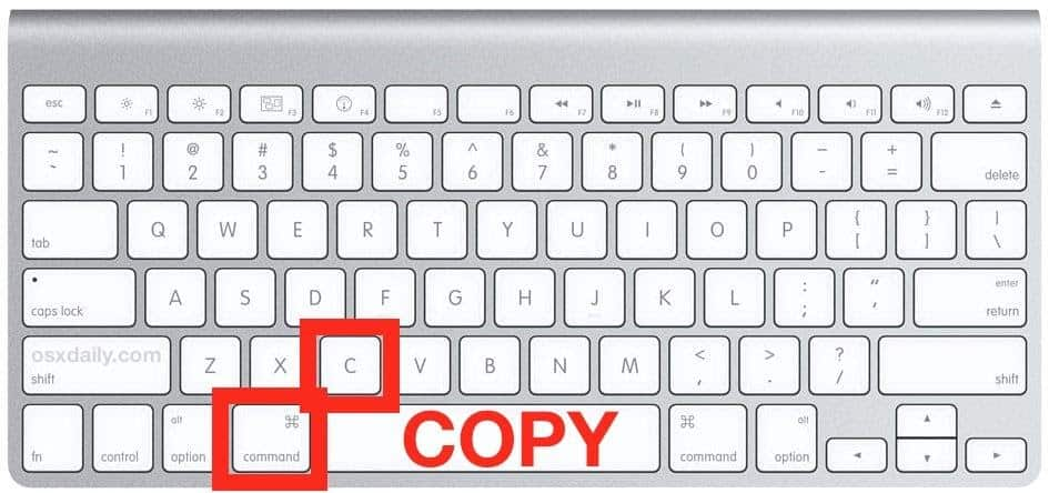how to copy and paste on mac