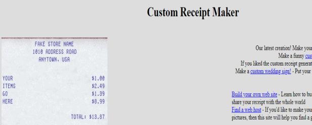 best fake receipt generator online 2020