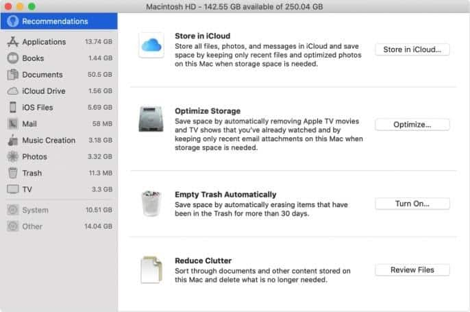 how to free up space on mac quickly