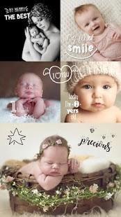 Baby Story Photo Editor - baby milestone photo app free