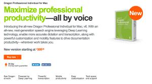 Dragon Naturally Speaking - best writing apps 2020