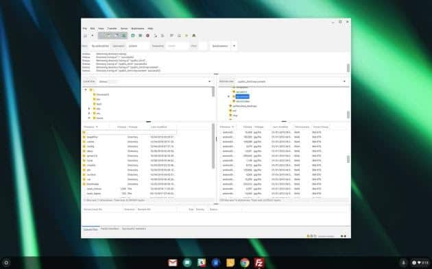 FileZilla - linux app for chromebook 2020