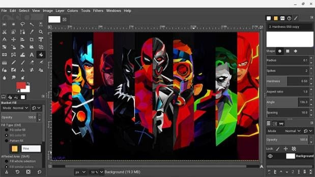 GIMP - Photoshop alternative for chromebook linux