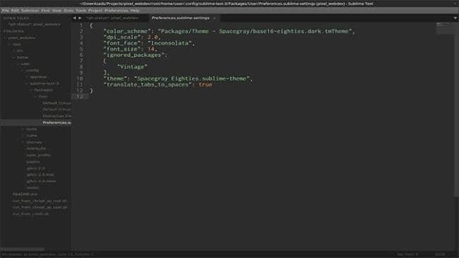 Sublime Text - Top linux apps for chromebook 2020
