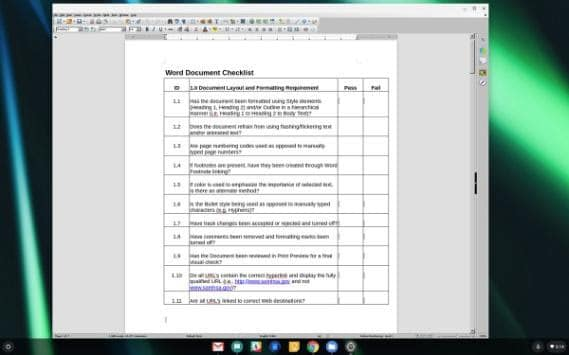 libreoffice chromebook