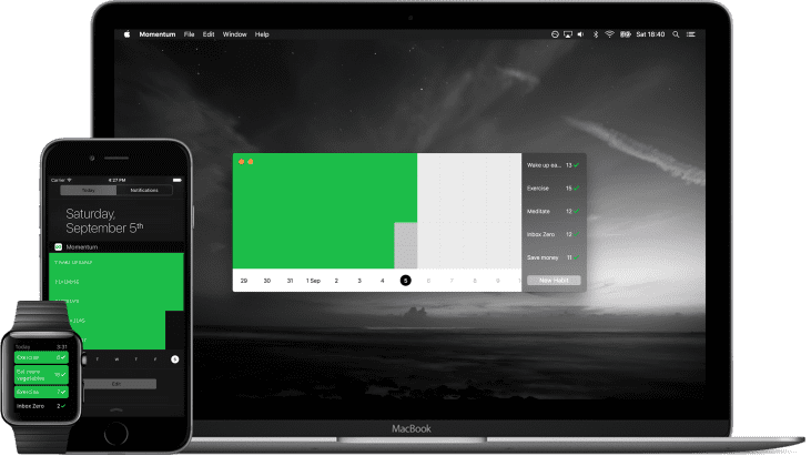 Momentum - free habit tracker app