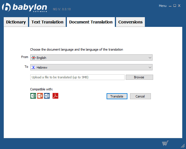 babylon shakespeare translator