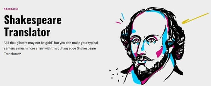 english to Shakespeare translator
