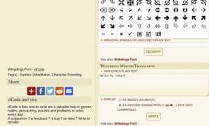 Wingding Translator decoder