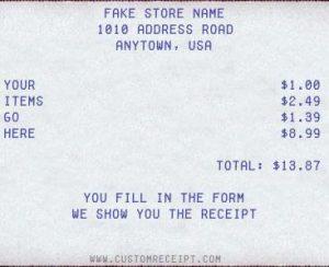 Fake ATM Receipt Generator