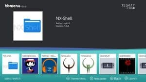 NX shell - homebrew apps for switch